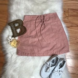 Hollister suede lace skirt